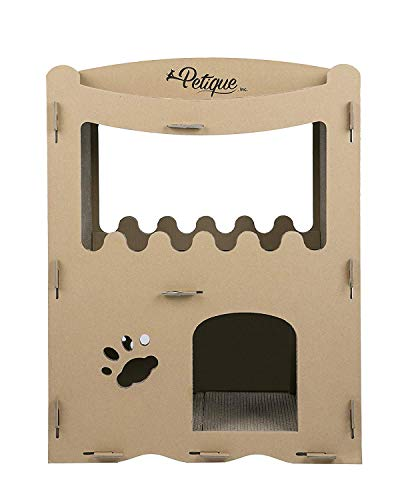 PETIQUE Feline Penthouse Cat House, Kraft, One Size