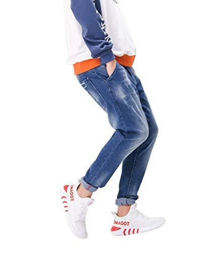 De Blau De Pantalones Pantalones Moda Casuales Mezclilla Fit Suaves Slim De Vaqueros Cómodos Pantalones Pantalones Mezclilla Los De Hombres Pantalones Vintage v4Xx8q4Rr