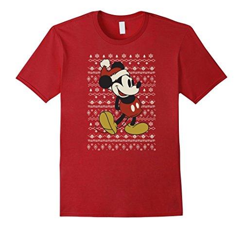 Mens Disney Vintage Mickey Mouse Christmas T-Shirt