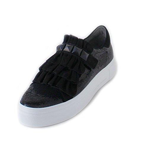 Big Black Ruffle Shoe Trainer Schmenger und Kennel BxwSEWqPOP