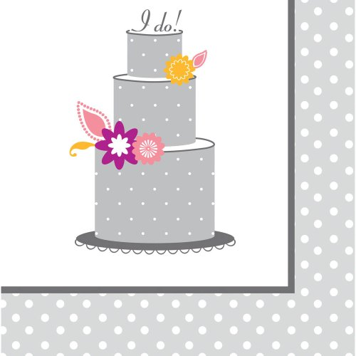 Creative Converting I Do Cake, Luncheon Napkins, 16 Count