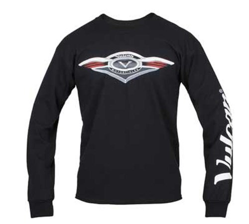 Kawasaki Vulcan Crest Long Sleeve T-Shirt - Black - Size Medium