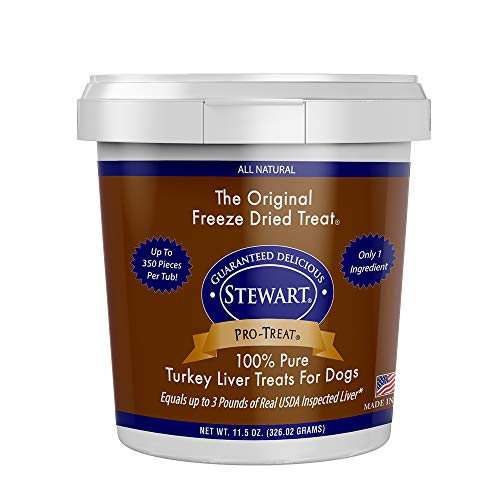 Treats Liver Turkey - Stewart Pro-Treat Turkey Liver Freeze Dried Dog Treats, 11.5-Ounce