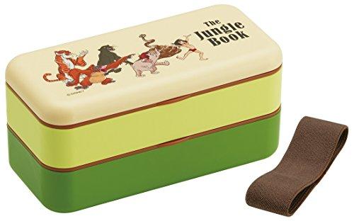 Skater Simple Lunch Box 600ml 2Tier Bento Box Jungle Book SLBW6
