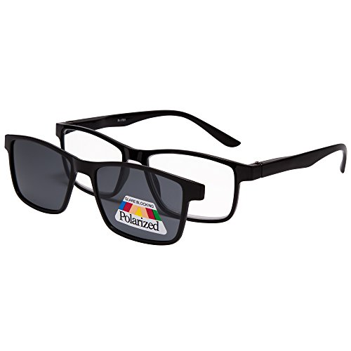 EYEGUARD Reading Glasses With A Magnetic Sunglasses Clip on Polarized Lens Unisex