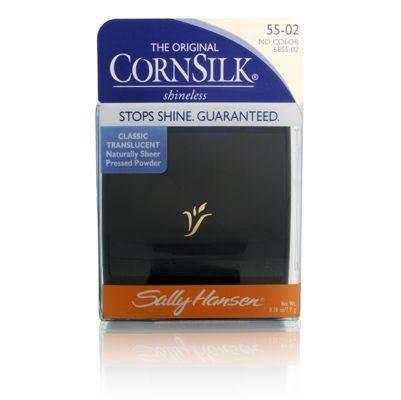 Sally Hansen Cornsilk Shineless poudre pressée, # 55-02 Aucune couleur translucide Classic.
