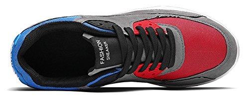 JiYe Running Shoes Men Fashion Students Breathable air Cushion Flyknit Sneakers,Grey,43EU=9.5US-Men by JiYe (Image #1)