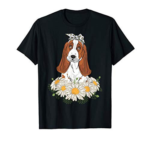 Cute Basset Hound Tee Funny Dog Lovers T-shirt Mother Gifts