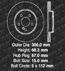OE Series Rotors + Ceramic Pads KT169342 Fits: 2013 13 2014 14 2015 15 Mercedes Benz GLK250 Max Brakes Rear Premium Brake Kit