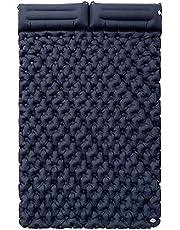 enjoy ymentlin wodoodporny sen nadmuchiwany materac na zewnątrz podwójna poduszka powietrzna torba do przechowywania poduszka składana usta poduszka powietrzna mata podwójne łóżko