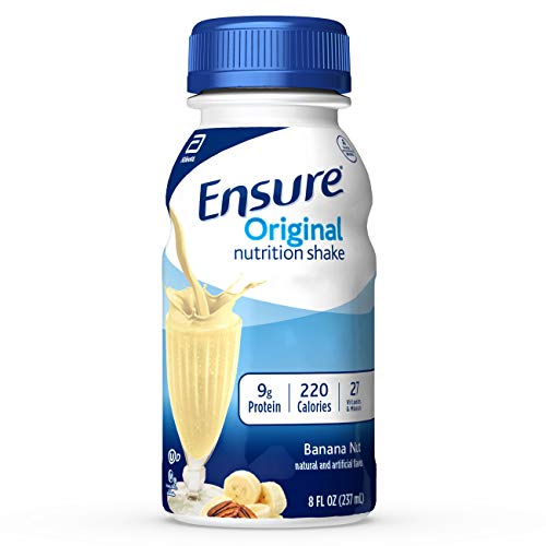Ensure Original Nutrition Shake With 9g of Protein, Meal Replacement Shakes, Banana Nut, 8 Fl Oz, 24Count