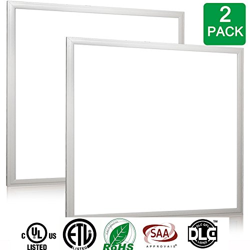 LEDMO LED Panel Light,40W-3600LM- Cool White(6000-6500k), Ceiling Flat Panel Light(2 (Drop Ceiling Fixture)