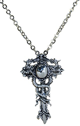 316L Stainless Steel Cross Dragon Pendant Necklace (Dragon Cross Pendant)