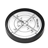 Chiloskit Aluminium Case Bullseye Spirit Bubble Surface Level Round Inclinometers for Surveying Instruments and Tribrachs, Ø60mm,Accuracy 15'/2