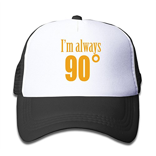 Wzn I Am Always 90 Degree Math Baseball Caps With Black For Youth