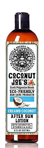 Creamy Coconut After Sun Lotion by Coconut Joe's | Enriched with Coconut Oil Vitamin E and Aloe, Deeply Moisturizes Your Skin, 8 ounce bottle by Coconut Joe's Suncare