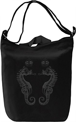 Seahorse Borsa Giornaliera Canvas Canvas Day Bag| 100% Premium Cotton Canvas| DTG Printing|
