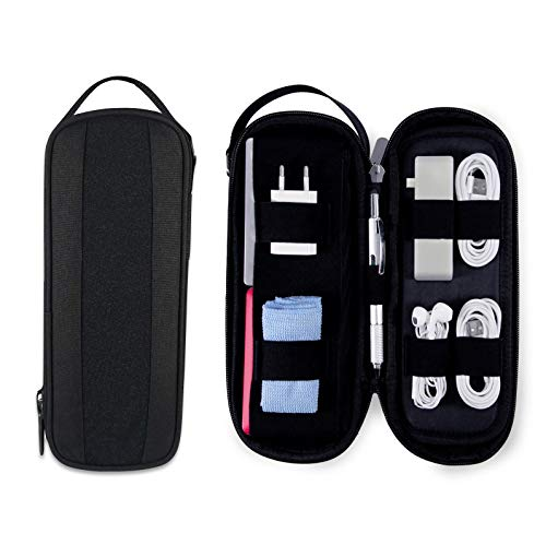 POWER PACKER Electronic Cable Organizer Case for Phone & Computer Accessories - Smart Versatile Travel Storage Bag for Electronics, Tech & Gadgets - Laptop Cables, Cords, Adapters, Plugs, USB - Shadow ()