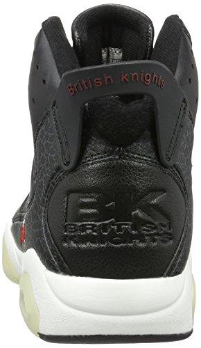 British Knights Herren Mavik High-Top Schwarz (black/red 07)