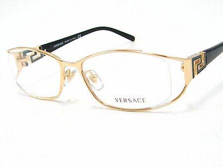 548244ab086 New Versace 1128-B 1128B 1002 Gold Black Frame Optical Eyeglasses Size   52-16-130  Amazon.co.uk  Clothing