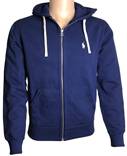 Polo Ralph Lauren Classic Full-zip Fleece Hooded Sweatshirt - Xl - Navy