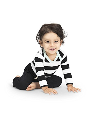 Colored Organics Baby Unisex Organic Pike Long Sleeve Bodysuit - Pierre Stripe - 6-12M (Bodysuit Onesie Striped)
