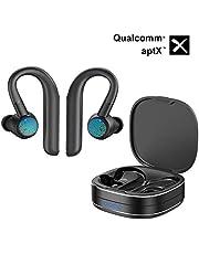 Bluetooth 5.0 Headphones Wireless Earphones, EPHRAM Wireless Earbuds aptX cVc noise cancellation 96H Play Auto Pairing Wireless Headphones for Running Sports Mic Bluetooth Earbuds
