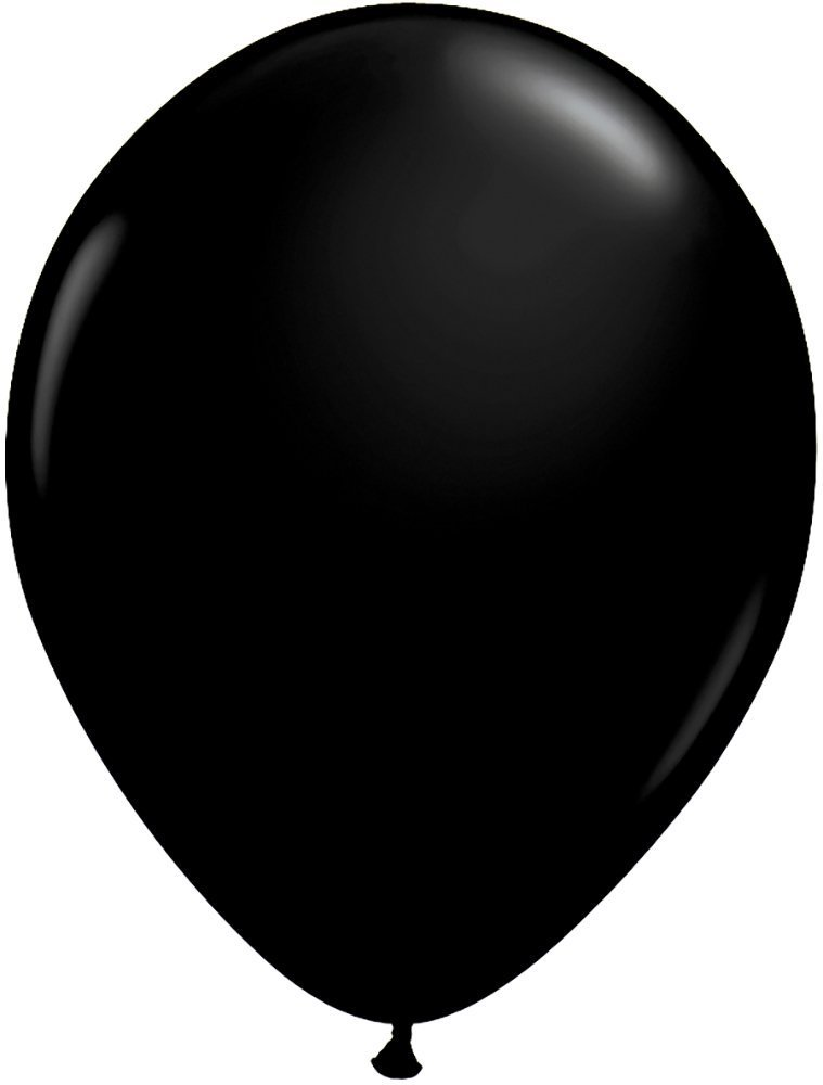 Peace&Joy 12'' Latex Balloons 100 Pack (Black)