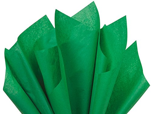 (Festive Green 15 inches x 20 inches 100 Sheets Premium Quality Gift wrap Paper A1 bakery supplies )