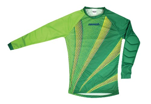Reusch Soccer Batista Goalkeeper Jersey, Green/Yellow/Blue, Small ()