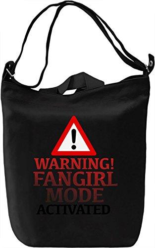 Warning Fangirl Borsa Giornaliera Canvas Canvas Day Bag| 100% Premium Cotton Canvas| DTG Printing|