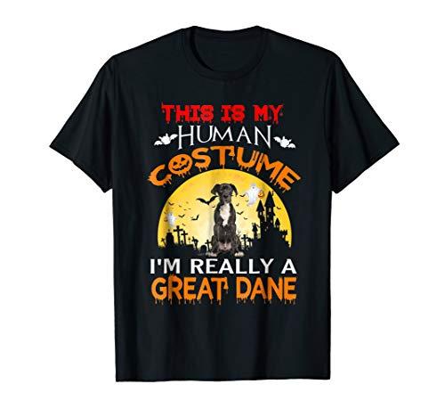 I'm Really A Great Dane Dog T-Shirt Halloween 2018 Gift