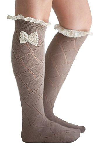 Ruffle Bow Socks - 2