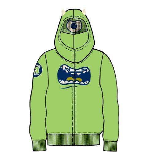 [Monsters University Boys Mike Wazowski Green Costume Hoodie Sweatshirt (Boys 14/16)] (Monster University Costumes)