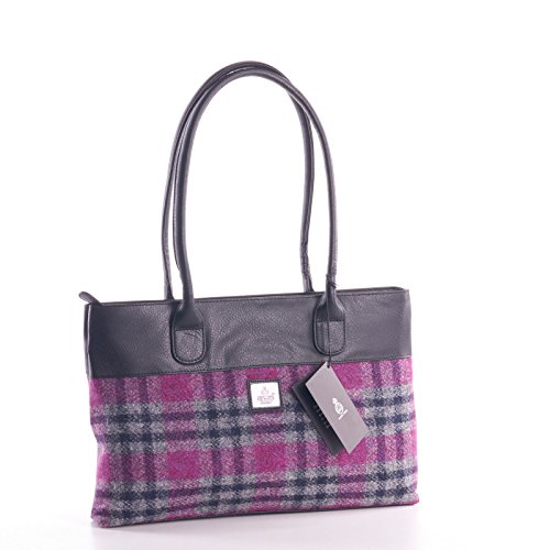 Pink Bag Tweed Check Check Harris Tote Pink Harris Tweed CxPwRFTCq