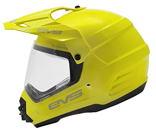EVS Sports T5 Dual Sport Venture Helmet (Hi-Viz Yellow, X-Small) by EVS Sports