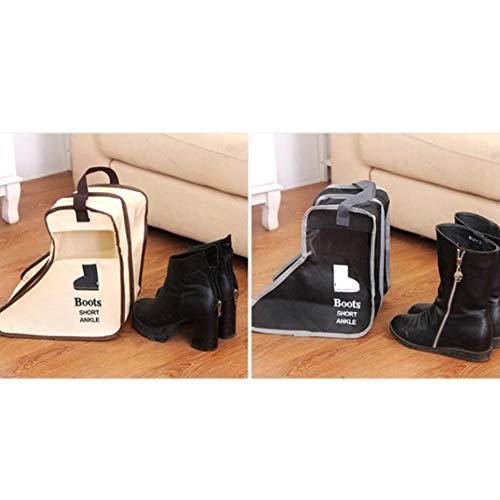 de Organisateur tissé Visible Botte Protecteur Noir Anti de avec Botte Bags Ndier Boot poussière Storage Botte Compartiment de Anti Sac en Tissu humidité Non Petit Double 8q1Rtw