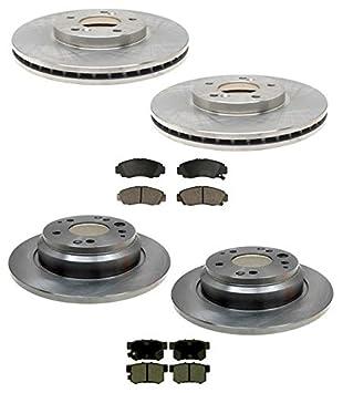 1999-2001 Acura 3.5RL RL Front and Rear Brake Rotors /& Brake Pads