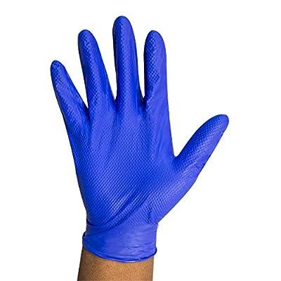 UltraSource Nitrile Diamond Grip Gloves, 5 mil, Blue (100 per Box)