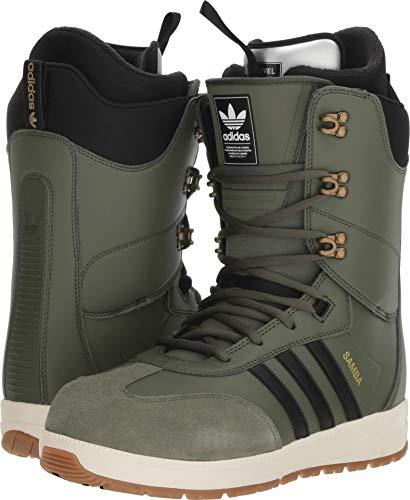 8b5c533f352 adidas Samba Adv Snowboard Boots Base Green Black Off White Mens Sz 11