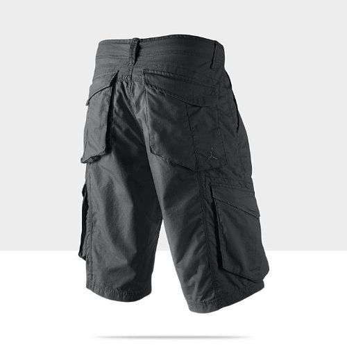43581c44110ee7 Amazon.com  Nike Men s Air Jordan 3-Point Cargo Shorts Black 465022-011  (30)  Sports   Outdoors
