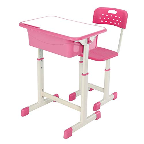 Blacgic Adjustable Table and Chair Set Lifting Student Desk for Essential Learning Child Workstation Storage Study