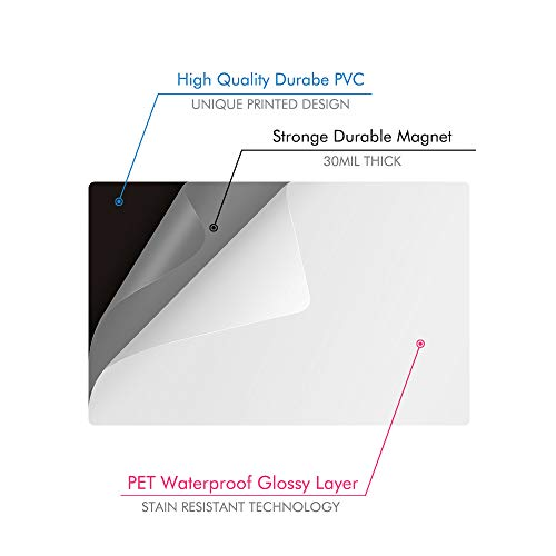 Magnetic-Dry-Erase-Whiteboard-Sheet for Fridge Stain Resistant Technology 17x12 Refrigerator White Board Organizer and Planner Includes 3 Markers,2 Clips,Pen Holder and Big Eraser with Magnets Photo #6
