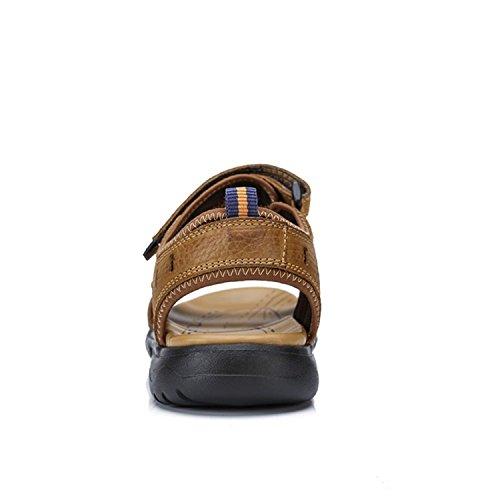 Kamel Mens Utomhus Snygga Atletiska Sandaler Hållbara Strand Lätt Sandal Khaki