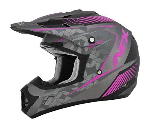 AFX FX-17 Factor Womens Motocross Helmets - Pink/Gray - - Motocross Womens Helmet