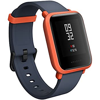 Amazfit Bip Smartwatch by Huami with All-Day Heart Rate and Activity Tracking, Sleep Monitoring, GPS, Ultra-Long Battery Life, Bluetooth, US Service and ...