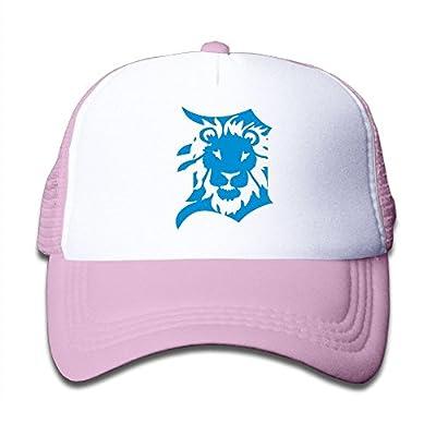 Lodve Hvgfgs Mesh Baseball Cap Lion Detroit Adjustable Snapback Hat Girls&Boys
