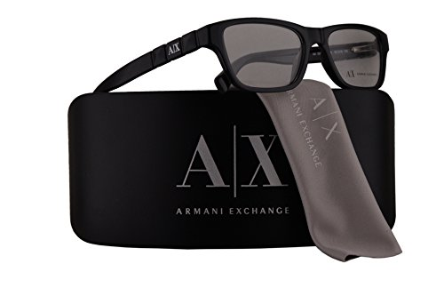 Armani Exchange AX3014 Eyeglasses 52-16-135 Black Transparent w/Demo Clear Lens 8005 AX - Aniston Sunglasses Jennifer