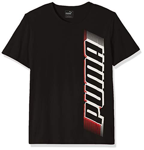 PUMA Men's Speed TEE, Cotton Black, - Puma T-shirt Graphic