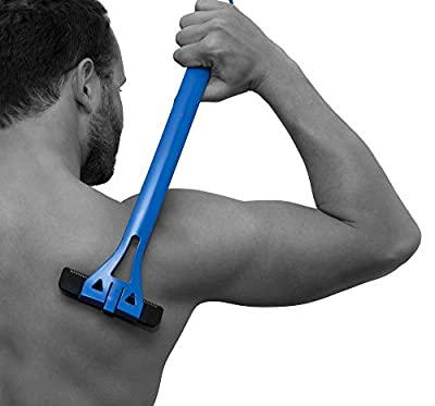 BAKblade 1.0 - Back Hair Removal and Body Shaver (DIY), Easy to Use Extra-Long Handle for a Close, Pain-Free Shave, Wet or Dry Disposable Razor Blades with Refill Replacement Cartridges Available